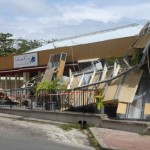 Vernielde restaurant Blue Fin bij het Atlantis Casino in Cupecoy - foto: Today/Hilbert Haar
