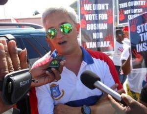 UP-leider Theo Heyliger werd buiten het stemfraude onderzoek gehouden. Foto: Today / Hilbert Haar