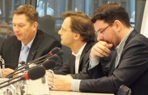 André Bosman, Ronald van Raak, Roelof van Laar (vlnr) - foto: Suzanne Koelega