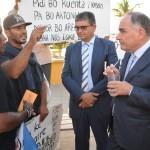 Finies in gesprek met Thodé en Soons Foto Extra Bonaire