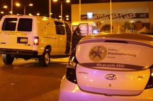 De zeven gewonde omstanders zullen een vordering indienen tegen de vijf verdachten - foto: José de Bruin