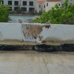 Verbrande autobanden Foto Extra Bonaire