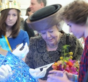 prinses Beatrix bij Kinderrechtentop in Leiden - foto: Jamila Baaziz