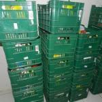 Kratten met voedselpakketten foto Sofie Custers
