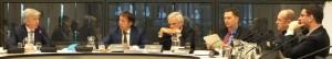 Minister Plasterk in debat met Bosman, Segers en Van Laar - foto: Jamila Baaziz