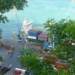 De containerhaven in Sint Maarten - foto: today / Hilbert Haar