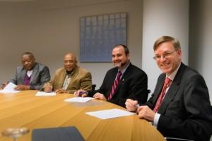 vlnr Zaandam, Winklaar, Johnson en Van Zwol - foto: Bas Kijzers/ministerie BZK
