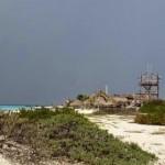 Het EOP voorziet niet in de constructies of gebouwtjes die nu op het eiland staan (foto Leoni Leidel-Schenk)