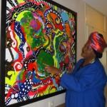 De Bonairiaanse kunstenaar Hellouisa Sint Jago.