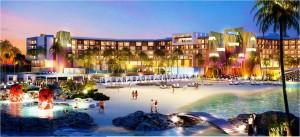 Ontwerp van het Hard Rock Hotel dat Southwest Horeca Development wilde bouwen