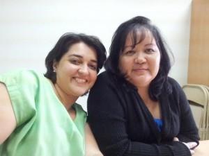 Internisten en leden van het Arubaanse hiv-team Jaclyn De Kort en Karina Kelly. Foto: Ariën Rasmijn