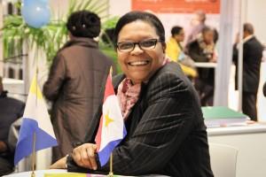 Cynthia Ortega-Martijn van het Overleg Caribische Nederlanders. - foto: John Samson