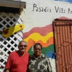 Jacoba en Louis Winklaar bij dagverblijf Villa Antonia | foto Belkis Osepa