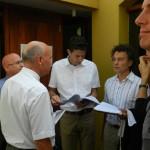 Het OM BES bestudeert  de vonnissen na afloop   foto Belkis Osepa