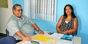 Henry Coffi en Quilin Arends Maduro - foto: Jackeliene Geeve