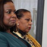 Regeringsvertegenwoordiger Marvelyne Wiels (links) van Curaçao en Josianne Fleming-Artsen (rechts) van Sint Maarten. - archieffoto: John Samson