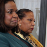 Regeringsvertegenwoordiger Marvelyne Wiels van Curaçao en Josianne Fleming-Artsen van Sint Maarten. - foto: John Samson