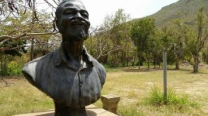 Borstbeeld van Emilio Wilson in het gelijknamige park. Foto Today / Hilbert Haar