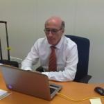 Inspecteur Gersji op zijn kantoor -foto: Leoni Leidel-Schenk