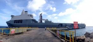 Vooralsnog wacht de marine op een teken van de politiek om te helpen bij het tegengaan van illegale immigranten uit Venezuela - foto: Anneke Polak