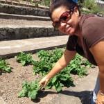 Organoponics Garden manager Leanne Ortiz - foto: Hazel Durand