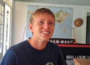 Linso van der Burg blijft liever op Aruba voor zijn studie - foto: Jackeliene Geeve