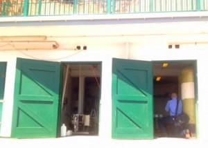 De drinkwaterunit op Saba.