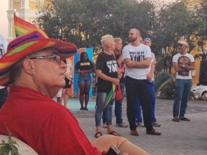 De opkomst was niet groot, maar de organisatie van de Curaçao Pride is tevreden - foto: Anneke Polak