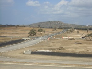 Laatste fase van het infrastructuurproject te Wechi – foto: José Manuel Dias