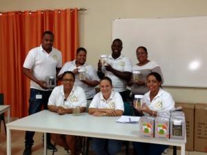Het team dat de registratie van de kinderbijslag verzorgt. midden zittend Nina den Heyer - foto: Janita Monna