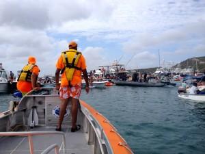 De C-Rescue onderweg naar een feestganger in nood - foto: Anneke Polak