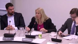 Liesbeth van Tongeren (Groen Links) tijdens het Isla-debat. Foto: John Samson.