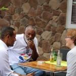 De Kamerleden hadden zaterdag een 'meet and greet' met de gemeenschap op Saba - foto: Hazel Durand