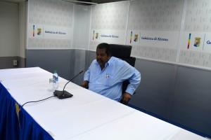 Ben Whiteman op de persconferentie | Foto: Dick Drayer