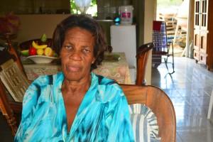 Ilse Navarro herinnert zich de verhalen van haar groot moeder over de plantage Malpais | Foto Dick Drayer