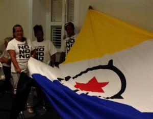 Een ruime meerderheid stemde op 18 december tegen de invulling van de band met Nederland - foto: Janita Monna