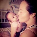 Baby Lunah met mama Liandha Garcia
