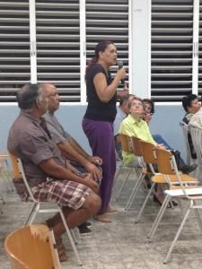 Burgers dragen suggesties aan voor de toekomst van het eiland - foto: Janita Monna