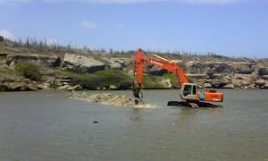 De werkzaamheden bij boca Ascencion zijn gestaakt - foto: Caribisch Netwerk