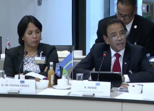 Rene Herde spreekt over de situatie in Venezuela tijdens het IPKO.