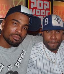 Rapper Proof (links) in betere tijden, rechts Shockwave.