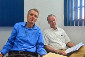 Cyriel van der Vegt (l) en Rob van den Bergh | Foto: Dick Drayer