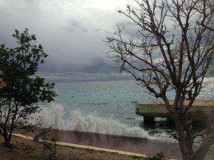 De lucht boven Bonaire donderdagmiddag - foto: Janita Monna
