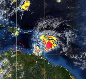 Volgens Meteoroloog Yogi Coffie zorgt Matthew vooral voor wateroverlast. Foto: Meteo Curaçao