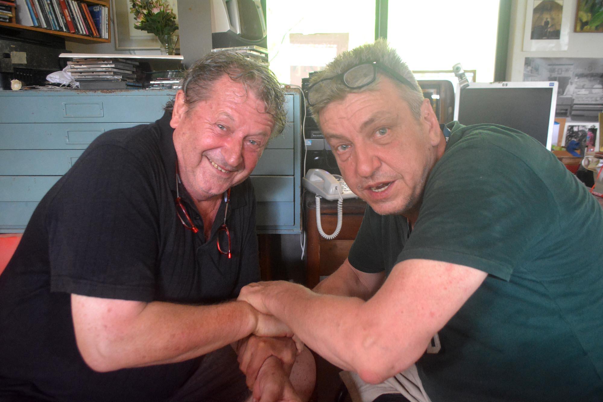 Herman van Bergen (l) en Rob Scholte hebben elkaar gevonden | Foto Persbureau Curacao