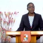 Astrid McKenzie (PLP) tijdens een toespraak in september over vermeende sabotage door haar eigen ambtenaren