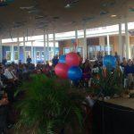 Tijdens haar bezoek aan Bonaire opende minister Bussemaker de nieuwe brede school Papa Cornes - foto: Gijs van den Heuvel