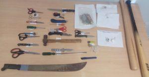 Zaterdag werden er al wapens in beslag genomen bij de eerste preventieve controles - Foto: KPCN